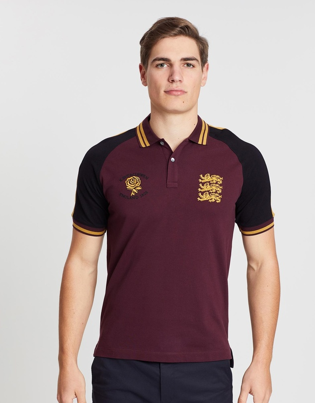 Kent and Curwen - Three Lions Rose Of England Rugby Polo