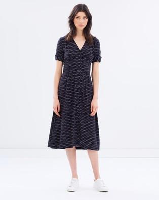 Weathered – Ivy Sleeve Print Dress – Dresses (Diamond Print)