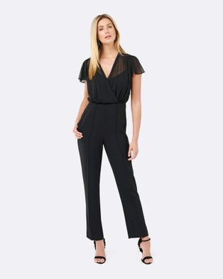 Forever New – Gigi Wrap Top Jumpsuit – Jumpsuits & Playsuits Black