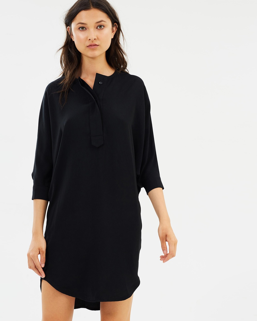Hello Parry Gisella Relaxed Tunic Dress Dresses Black Gisella Relaxed Tunic Dress
