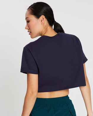 Doyoueven Academy Cropped Tee - Sports Tops & Bras (Navy & Green)