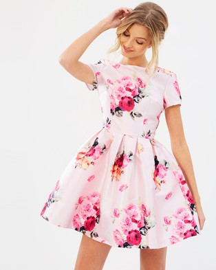 Chi Chi London – Kara Rose Dress Pink