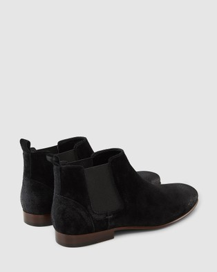 AQ by Aquila Marty Chelsea Boots - Dress Boots (Black Suede)