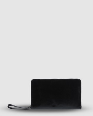 Cobb & Co Connor Travel Leather Wallet - Wallets (BLACK)