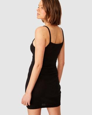 Cotton On Kora Straight Neck Mini Dress - Bodycon Dresses (Black)