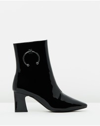 Atmos&Here - ICONIC EXCLUSIVE - Naya Leather Ankle Boots