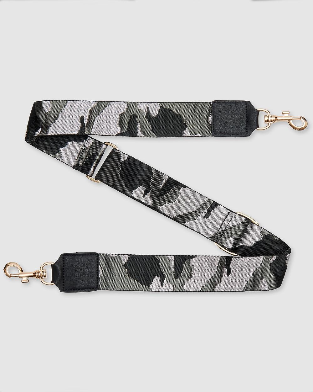 Urban Originals Camo Strap Bags Black
