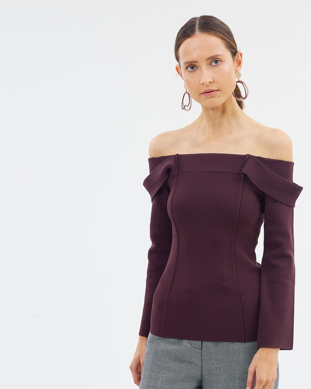 CAMILLA AND MARC Carole Knit Top Tops Black Orchid Carole Knit Top
