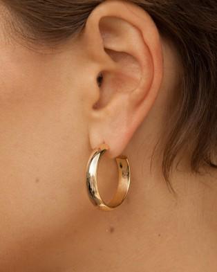 ALIX YANG - Mini Bessie Hoops - Jewellery (Gold) Mini Bessie Hoops