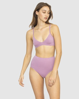 NICO Plant Dyed Organic Cotton High Waisted Briefs - Briefs (Lilac)