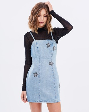 MINKPINK – Cosmos Crystal Patch Dress