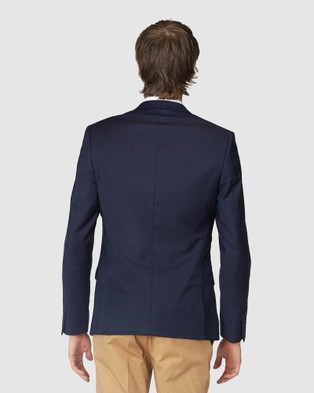 Jack London French Navy Stretch Suit Jacket - Suits & Blazers (Blue)