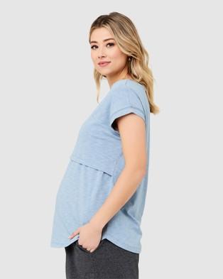 Ripe Maternity Richie Nursing Tee - T-Shirts & Singlets (Light Petrol)