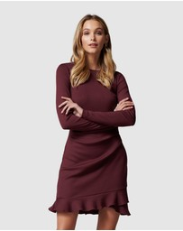 Forever New - Annie Rib Long Sleeve Frill Dress