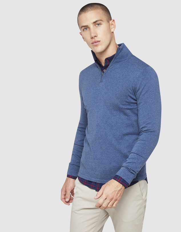 Oxford - Milo Zip Collar Knit