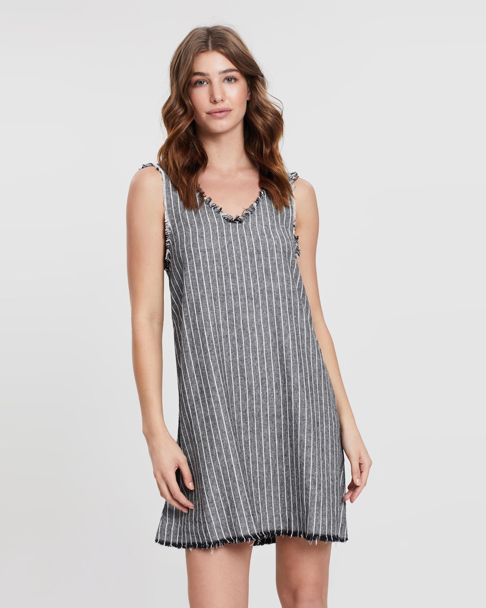 Marle Black & Ivory Stripe Holmes Dress