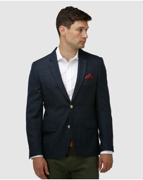 Brooksfield - Intricate Textured Plain Blazer