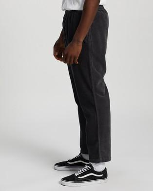 Stussy - Nolan Cord Beachpants - Pants (Dark Grey) Nolan Cord Beachpants