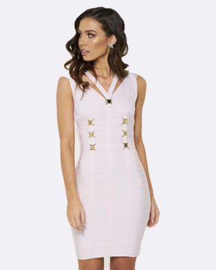 Honey Couture – Nicole Bandage Dress – Bodycon Dresses Purple