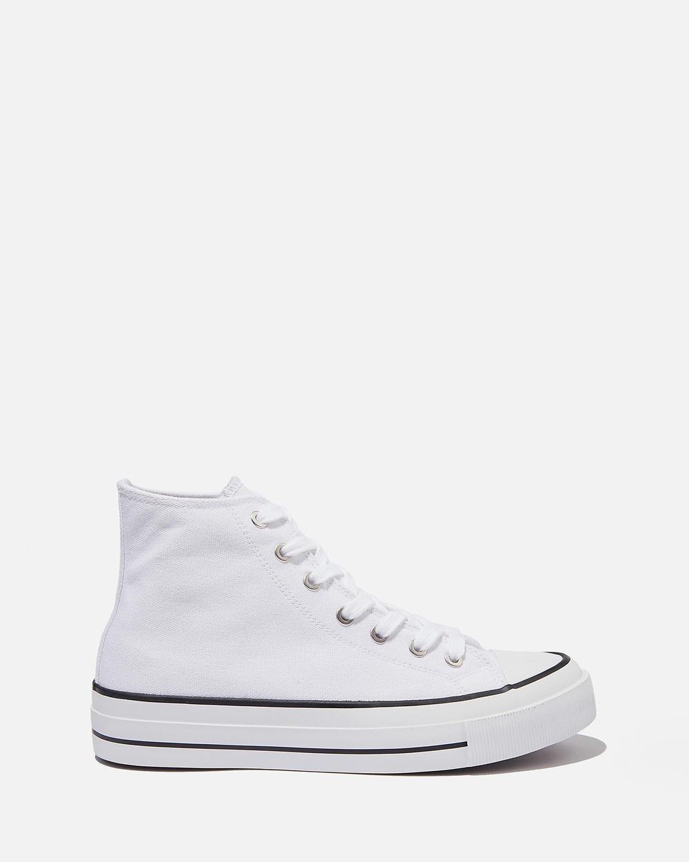 Rubi Britt Retro High Tops Teens Sneakers White