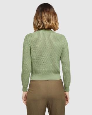 Oxford Samara Cardigan - Jumpers & Cardigans (Green)
