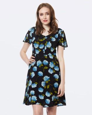 Princess Highway – Hydrangea Dress Black