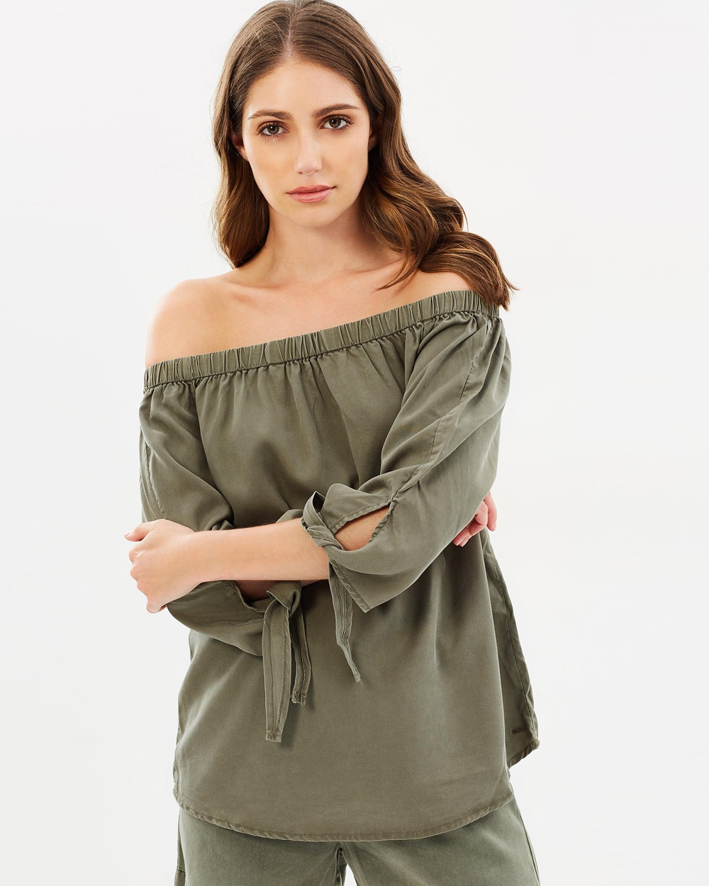 ONLY India Arizona 3 4 Off Shoulder Top Tops Kalamata India Arizona 3-4 Off-Shoulder Top