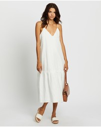AERE - Drop Hem Midi Dress