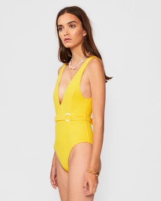 Suboo Ines Deep V One Piece - One-Piece / Swimsuit (Yellow)
