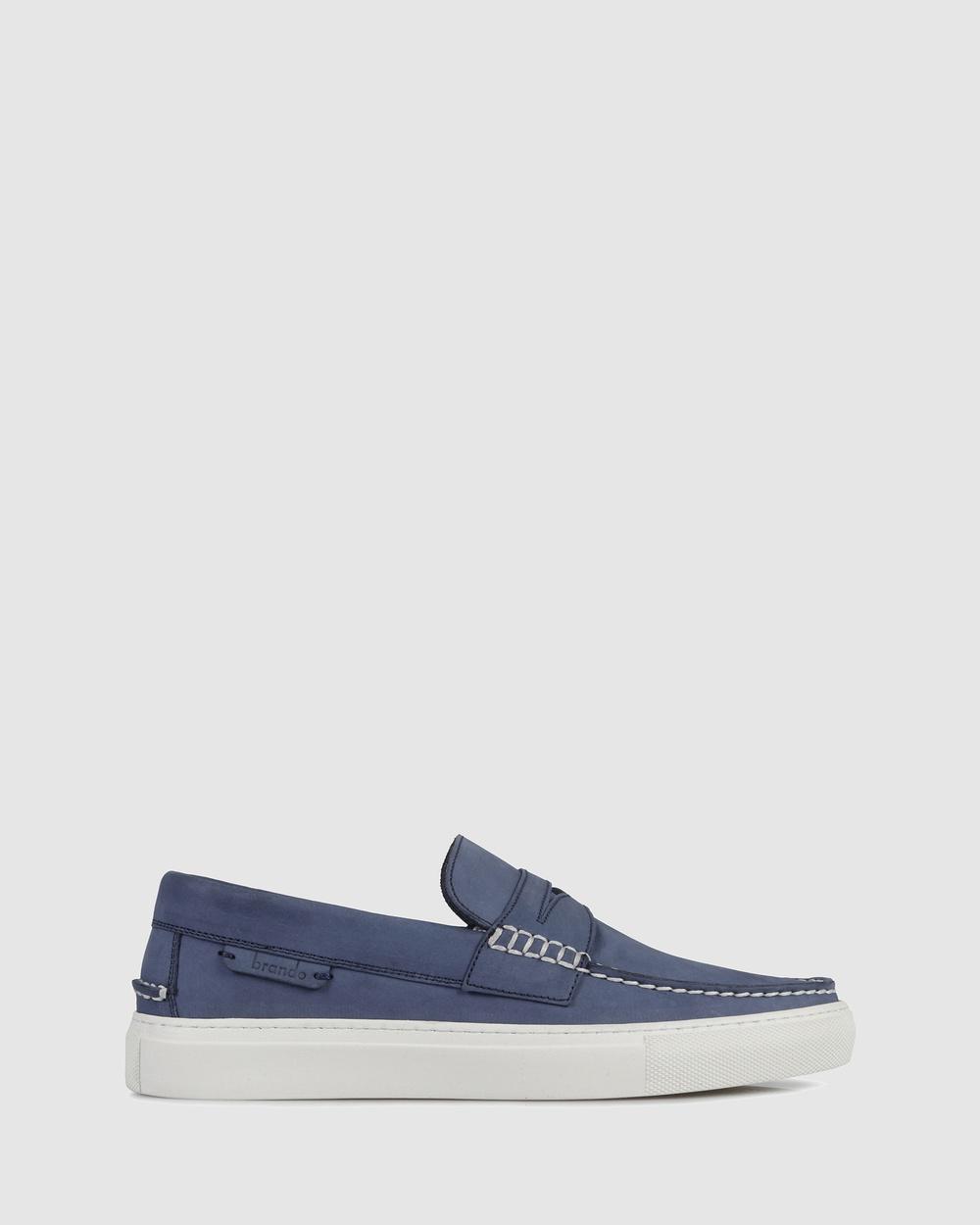 Brando Oscar Slip on sneakers Casual Shoes BLUE-401 Slip-on