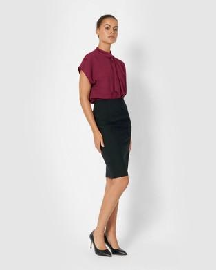 Forcast Rose Pencil Skirt - Pencil skirts (Black)